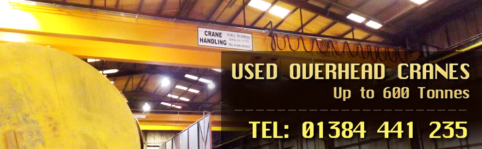 Used Overhead Cranes, upto 600 Tonnes
