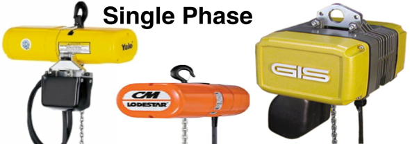 Single Phase 110v, 230v Electric Chain Hoists