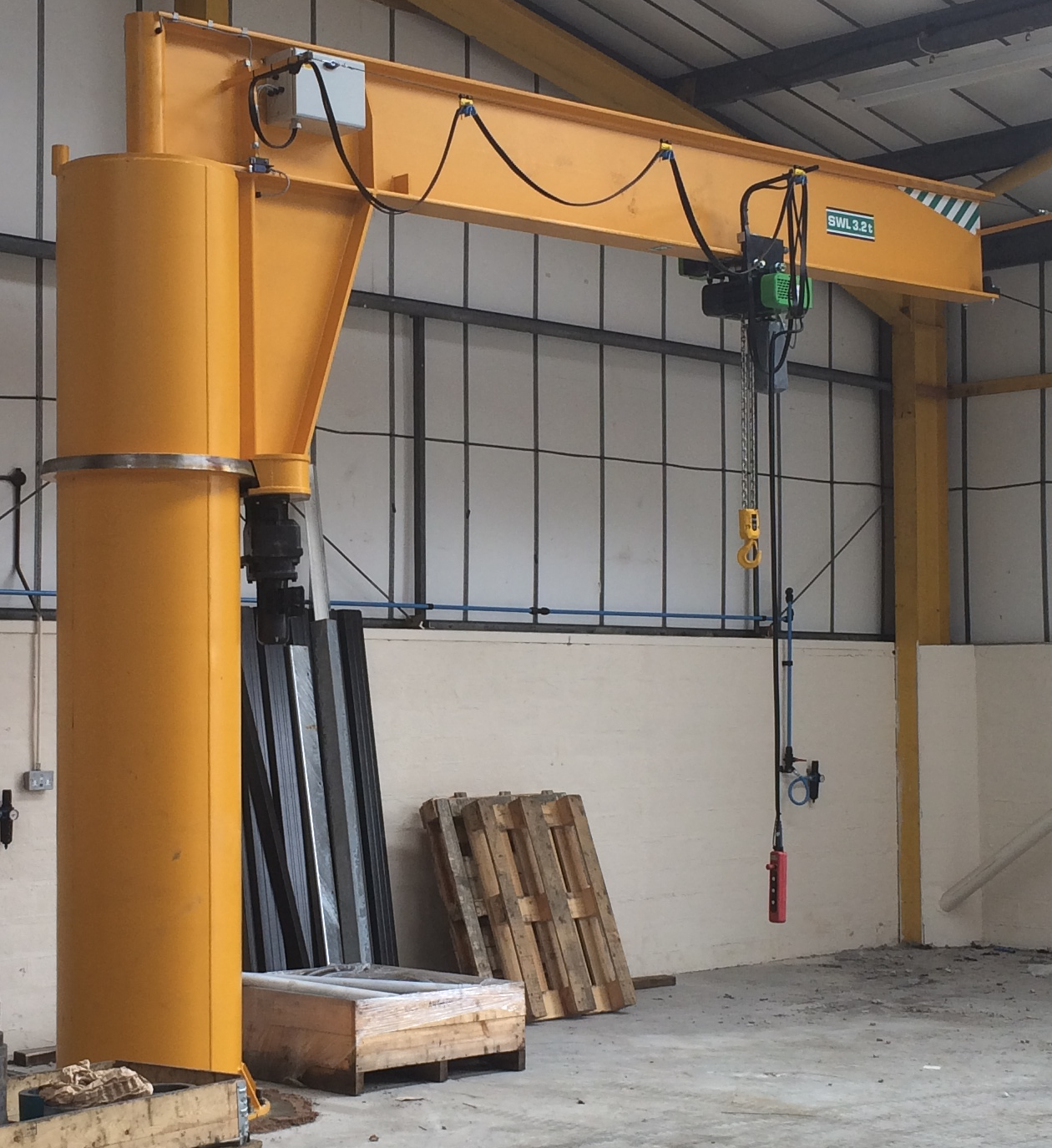 Used Jib Crane Hoist : Jib cranes supplied to leading gas and oil component