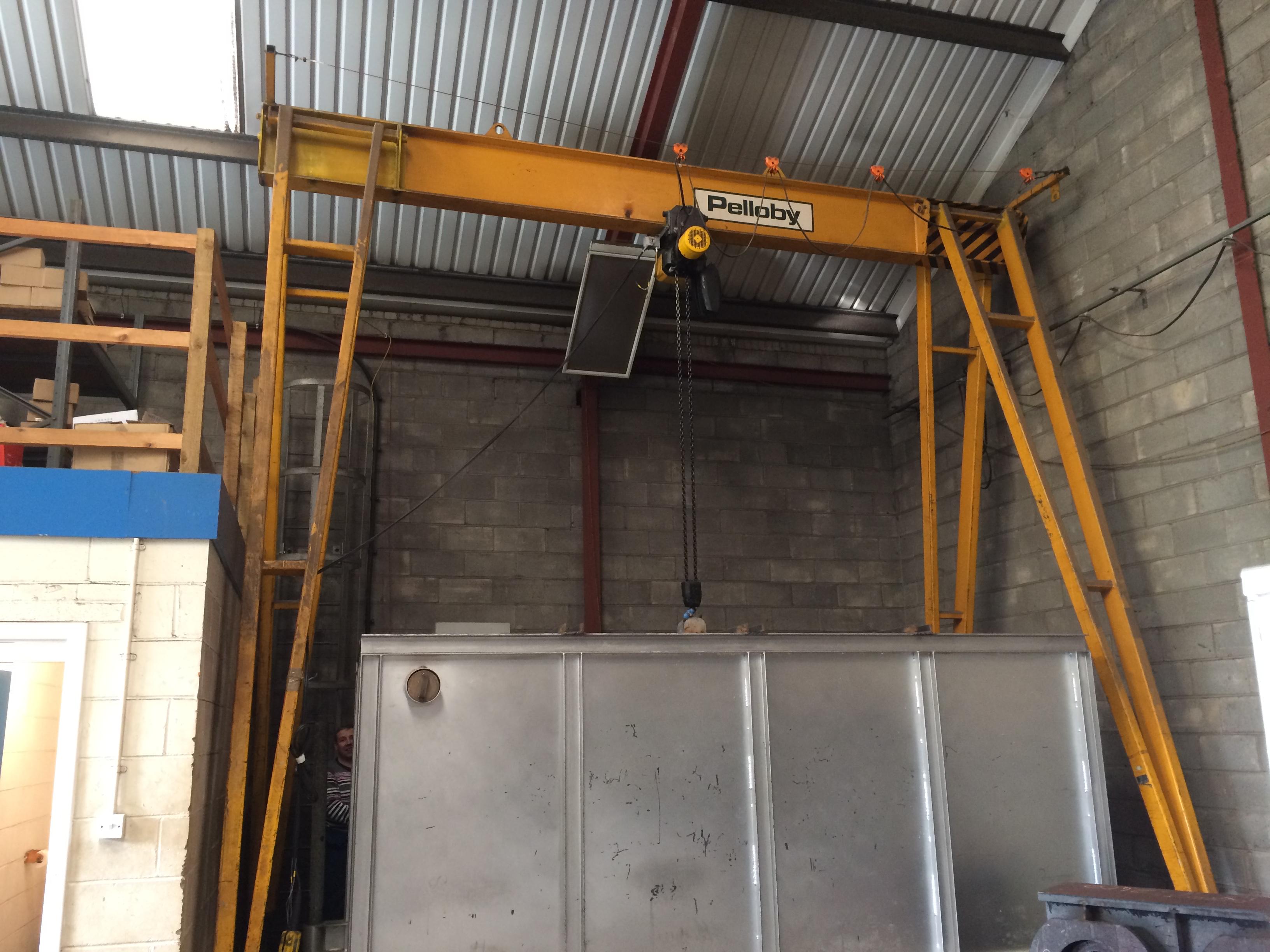 Mobile Gantry Crane Uk : Pelloby morris a frame mobile gantry buy used cranes